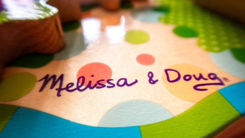 Close up Melissa and Doug activity table