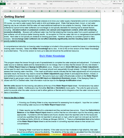 BWS 3.0 Instructions Page