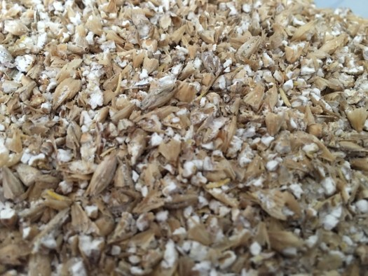 Dry Malt Crushed. This is my normal crush for the Brew-Magic and Grainfather