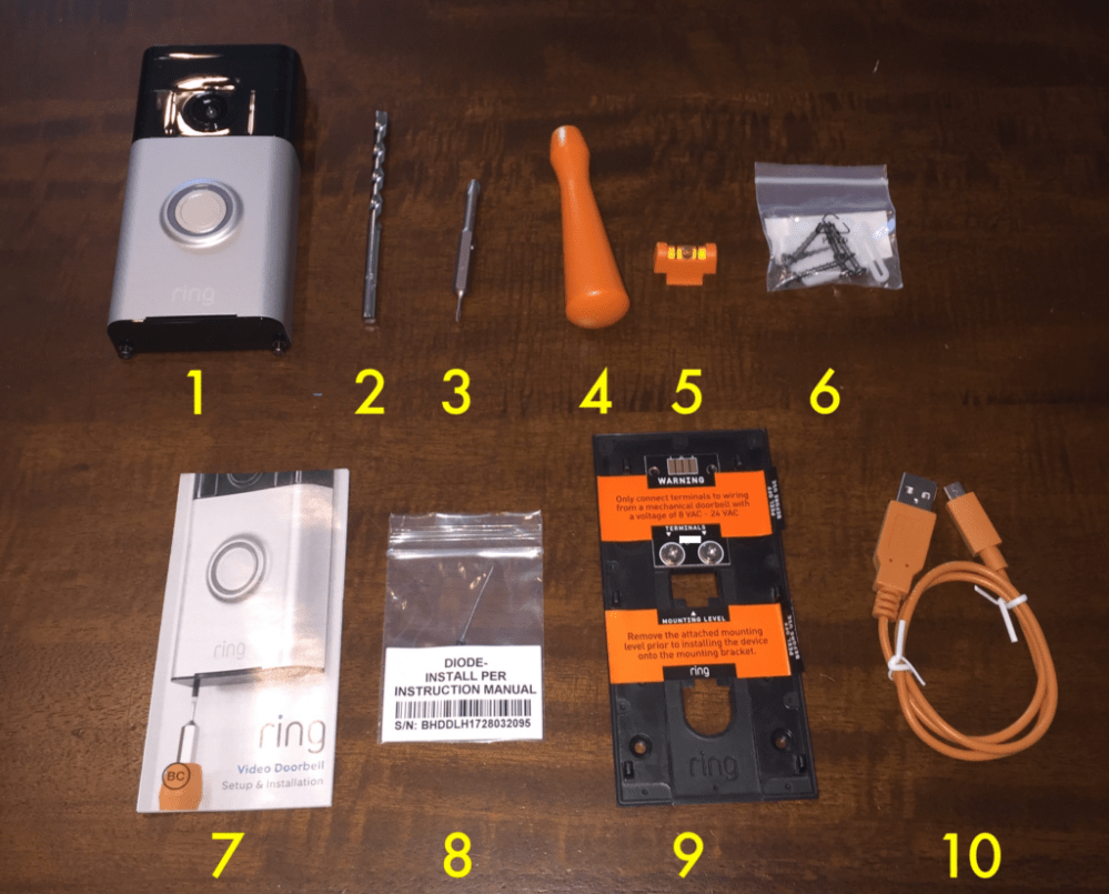 medium resolution of here s what s inside the basic ring video doorbell box