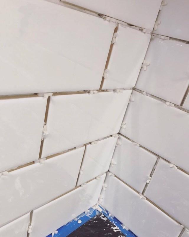 our subway tile backplash part deux
