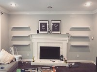 Adding Floating Shelves by the Fireplace | Accidental ...