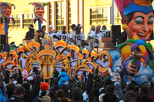 New Orleans Saints Victory Parade in 2010. Photo Credit Tulane University Public Relations.