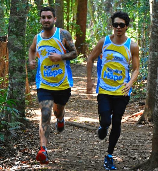 Australia-gold-coast-airport-marathon-Chris Evans (left) and Antony Sedman (right) tackle Gold Coast Airport Marathon