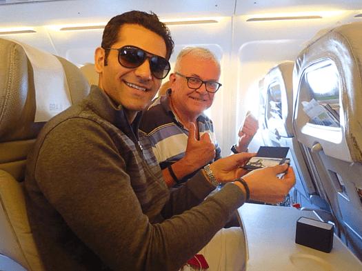 On-board-domestic-flight