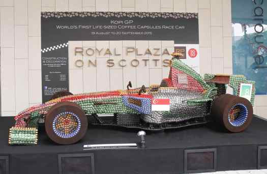 Royal Plaza on Scotts 2015 Coffee Capsule Race Car