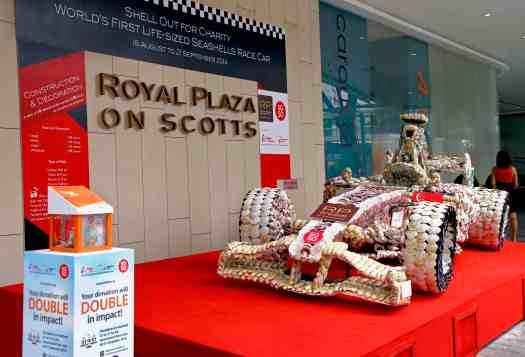 Royal Plaza on Scotts 2014 Sea Shell Race Car
