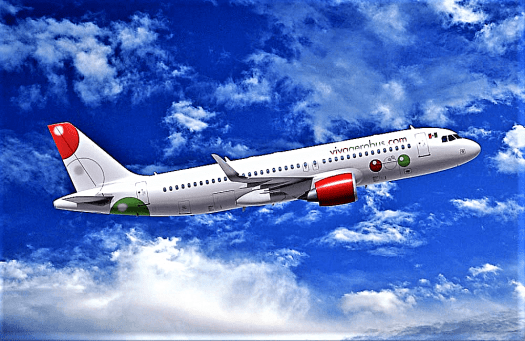 AVIATION-VIVAAEROBUS-IN-FLIGHT