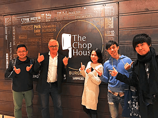 Food bloggers at The Chop House in Hong Kong
