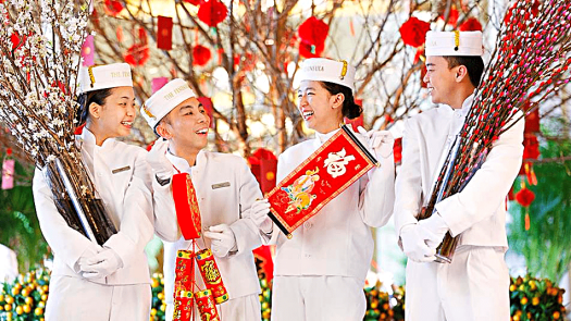 Peninsula Hong Kong pageboys celebrate Chinese New Year