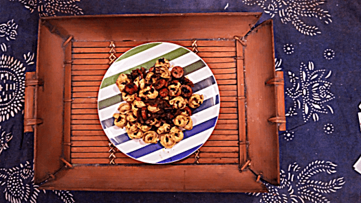 Tortellini with beef sausage, sun-dried tomatoes, and home-made basil sauce. Photo Credit #AccidentalTravelWriter.