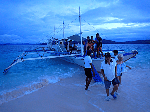 image-of-catamaran-at-dusk-in-palawan-philippines