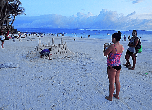 Philippines sand caslte on Boracay beach Photo Credit #AccidentalTravelWriter
