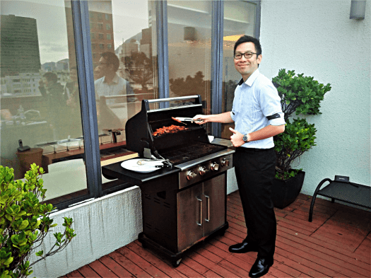 image of rooftop barbecue #AccidentalTravelWriter