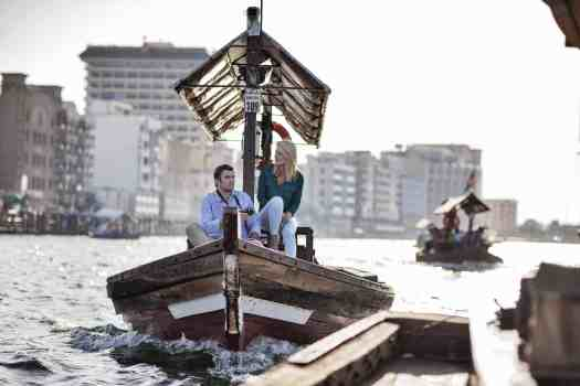 Uae-dubai-tourism-sailing-an-Abra-on-Dubai-Creek