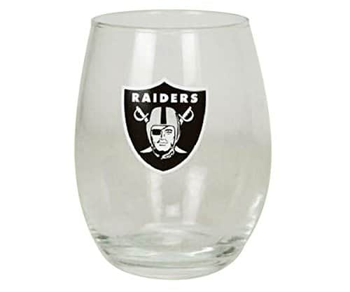Raiders-stemless-wine-glass