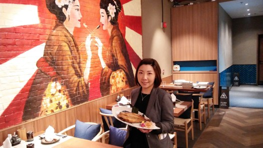 image-of-waitress-serving-fish