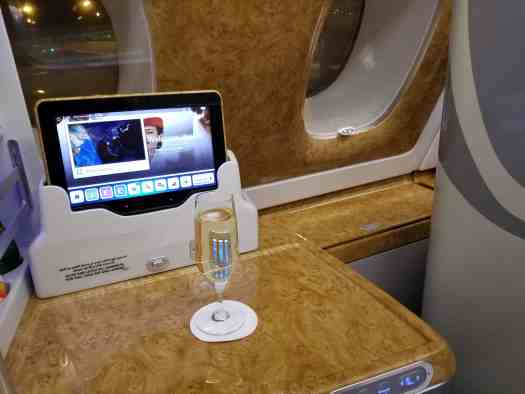 champagne-on-board-Emirates-business-class