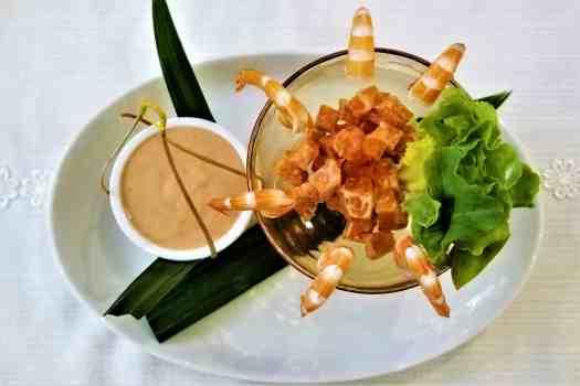 image-of-tiger-prawn-cocktail-at-ang-ku-tea-house-at-proud-phuket-hotel-thailand