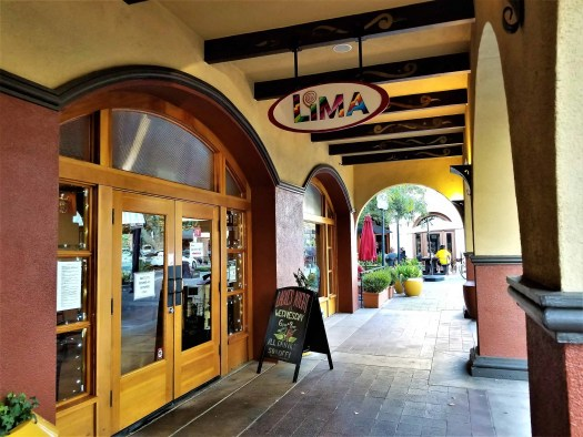 entrance of Lima Peruvian restaurant in Concord California