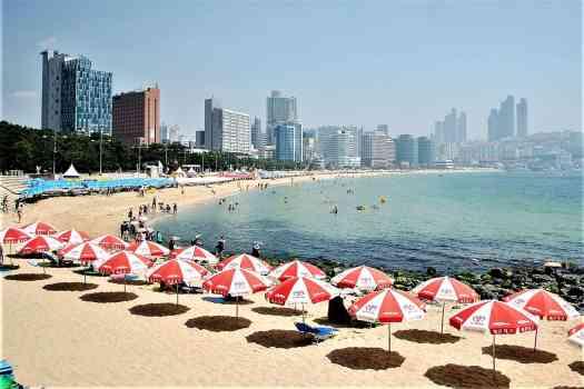 Haeundae Beach in Busan Korea