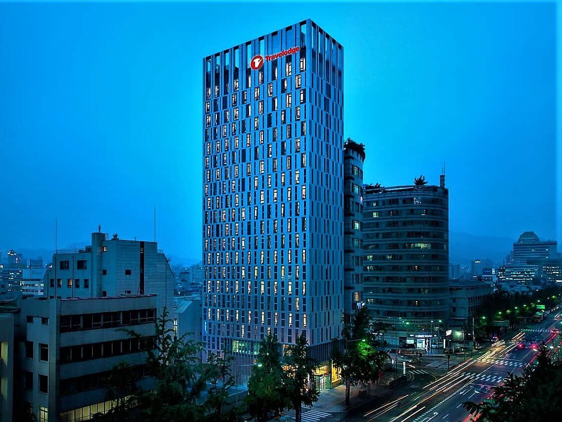Travelodge Dongdaemun in Seoul Korea viewed at night