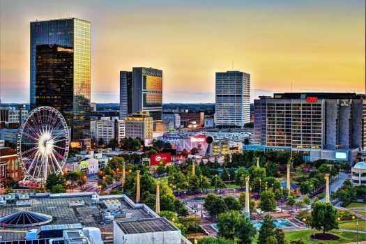 Atlanta-Centennial-Olympic-Park-at-sunset