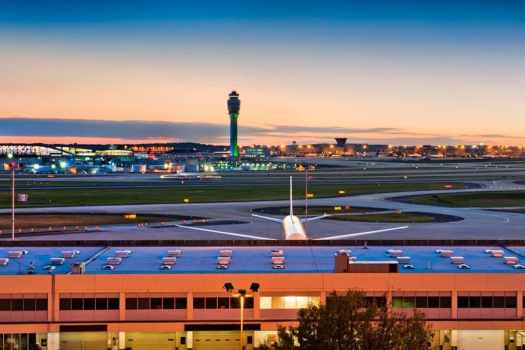 Atlanta-International-Airport-at-sunset