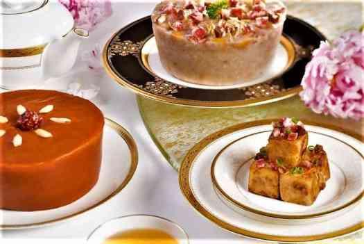 Taro Pudding at Tang Court Chinese Restaurant at Langham Court Hong Kong