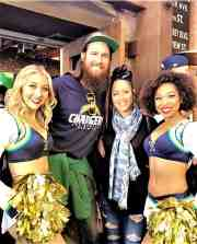 Charger girls at American Junkie in Hermosa Beach, California.
