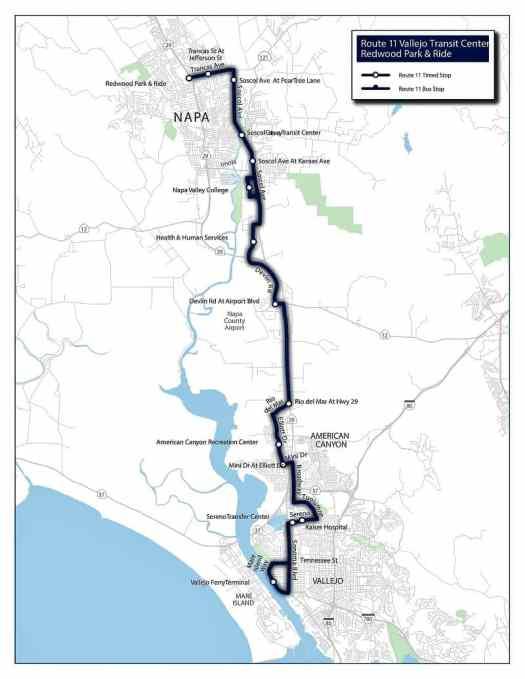 vine-transit-route-11-map