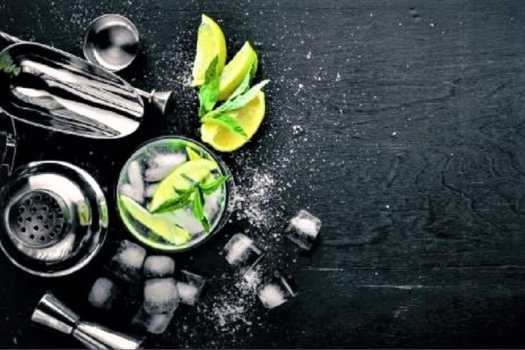 gin-cocktail-with-citrus-fruit-and-mint