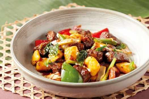 Wok-fried-Diced-Beef-with-Mango