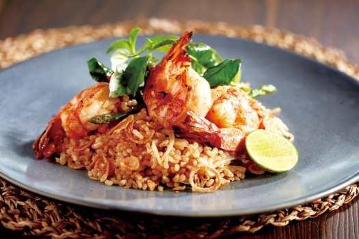 bamboo-thai-Green-Curry-Prawns-Fried-Brown-Rice