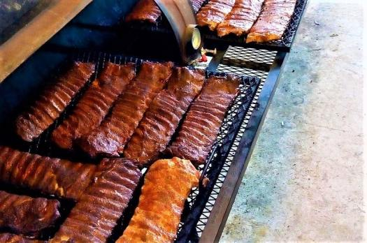 spareribs-barbecuing-on-a-grill