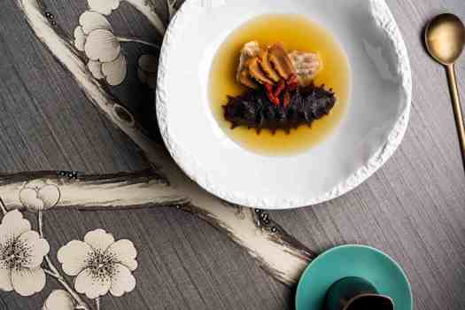 chinese-five-elements-dinner-Double-boiled-conch-soup