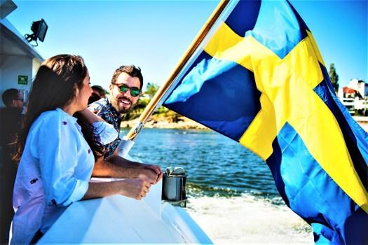 swedish-flag-on-boat