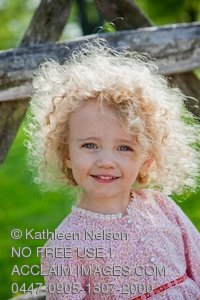 Stock Photo Of Smiling Little Girl Age 2 With Blond