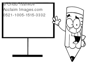 pencil smiling screen blank near clipart tag