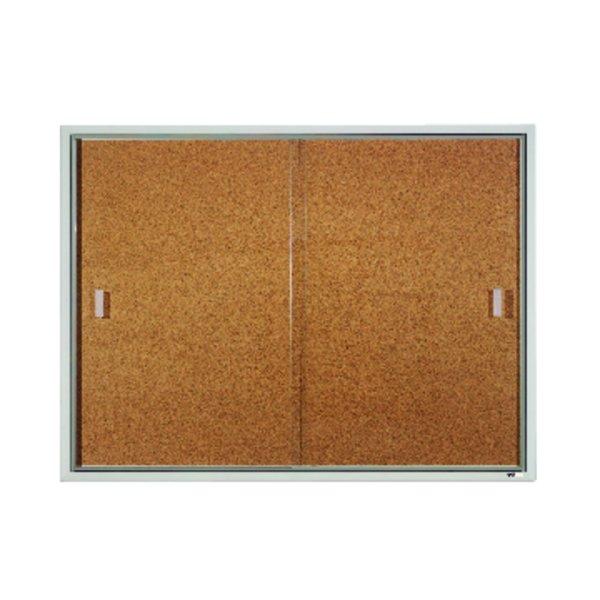 Sliding Door Enclosed Bulletin Board
