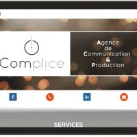 Complice Communication - site web WordPress