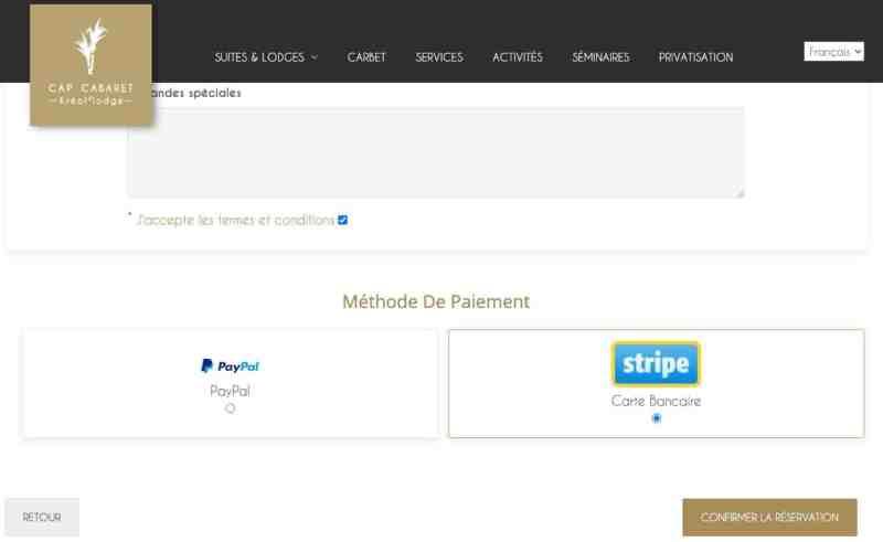 Création de site web pour location de Villa 3