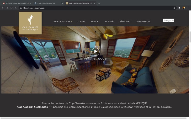 Création de site web pour location de Villa 5