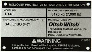 Ditch Witch Nameplate