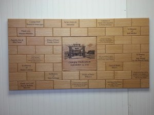 Church Donor Wall