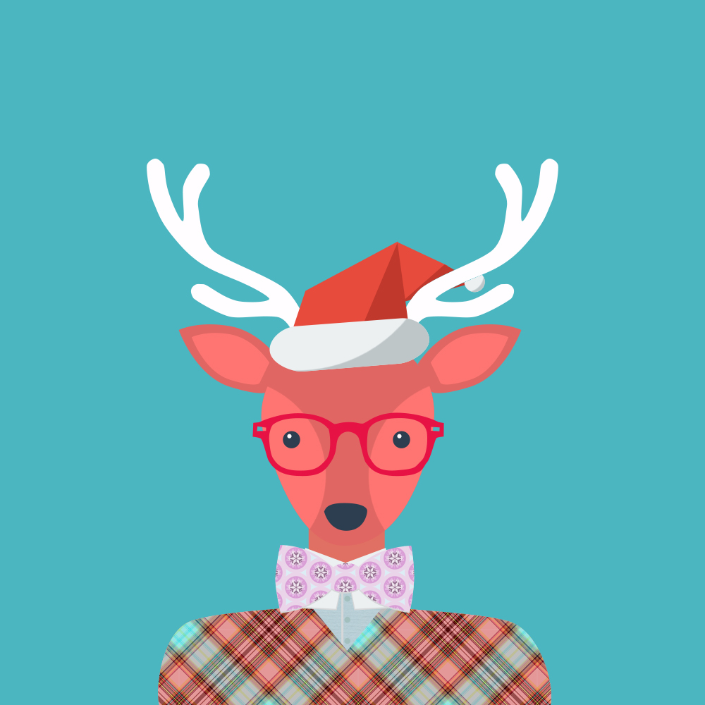 Vector: Christmas Animals