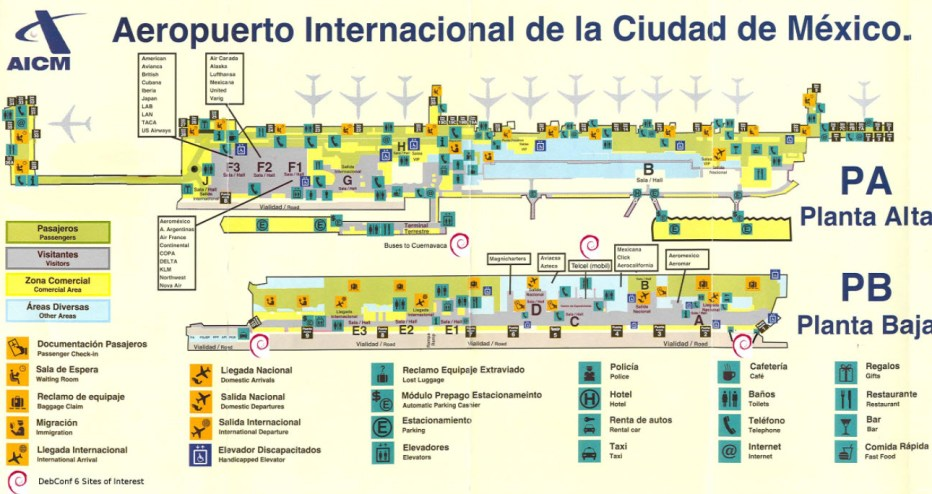 Mexico City Airports Map 2
