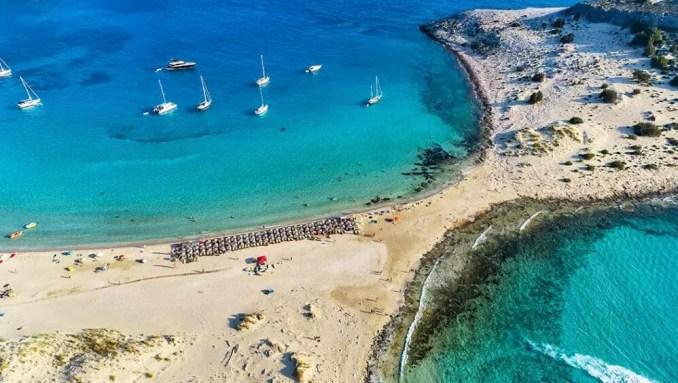 Peloponnese in Greece - Simos Beach