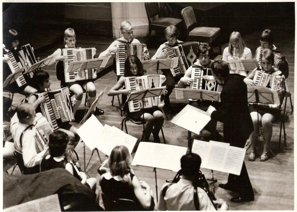 A-orkest Accordeonata Musis Sacrum in 1970