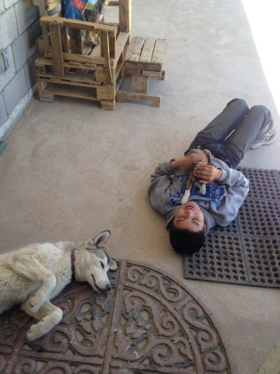 Luis and his dogs